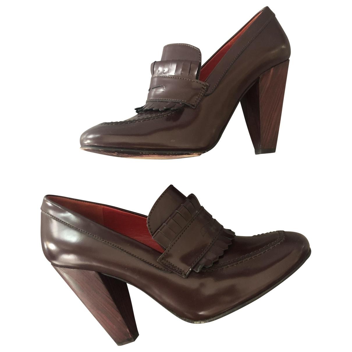 Tommy Hilfiger \N Burgundy Patent leather Heels for Women 39 EU