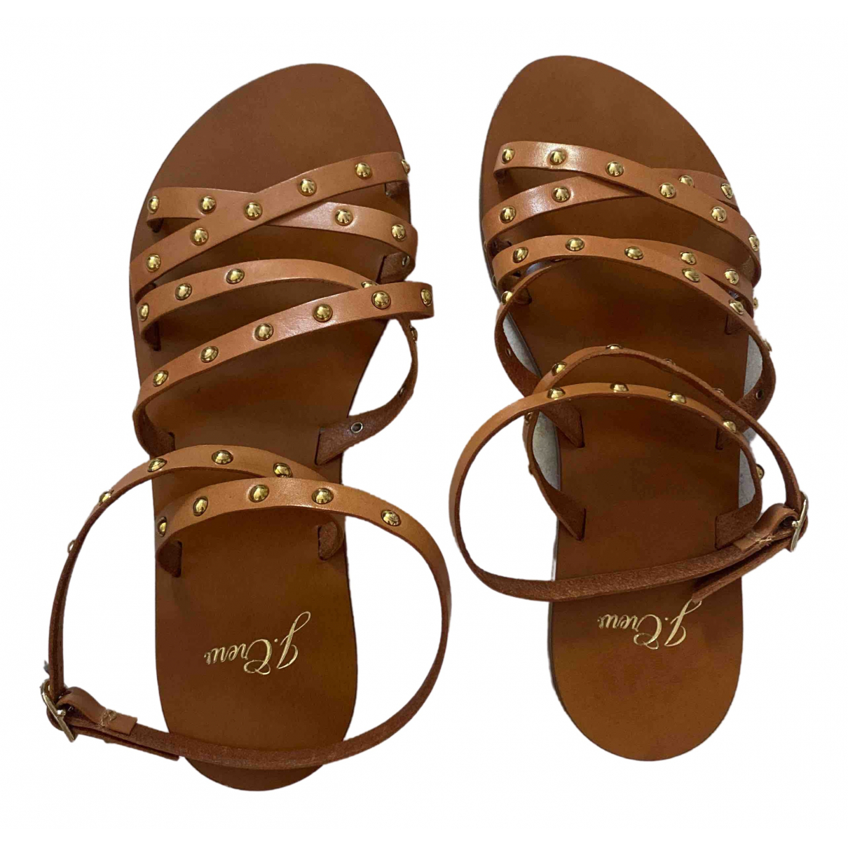 J.crew \N Brown Leather Sandals for Women 6 US