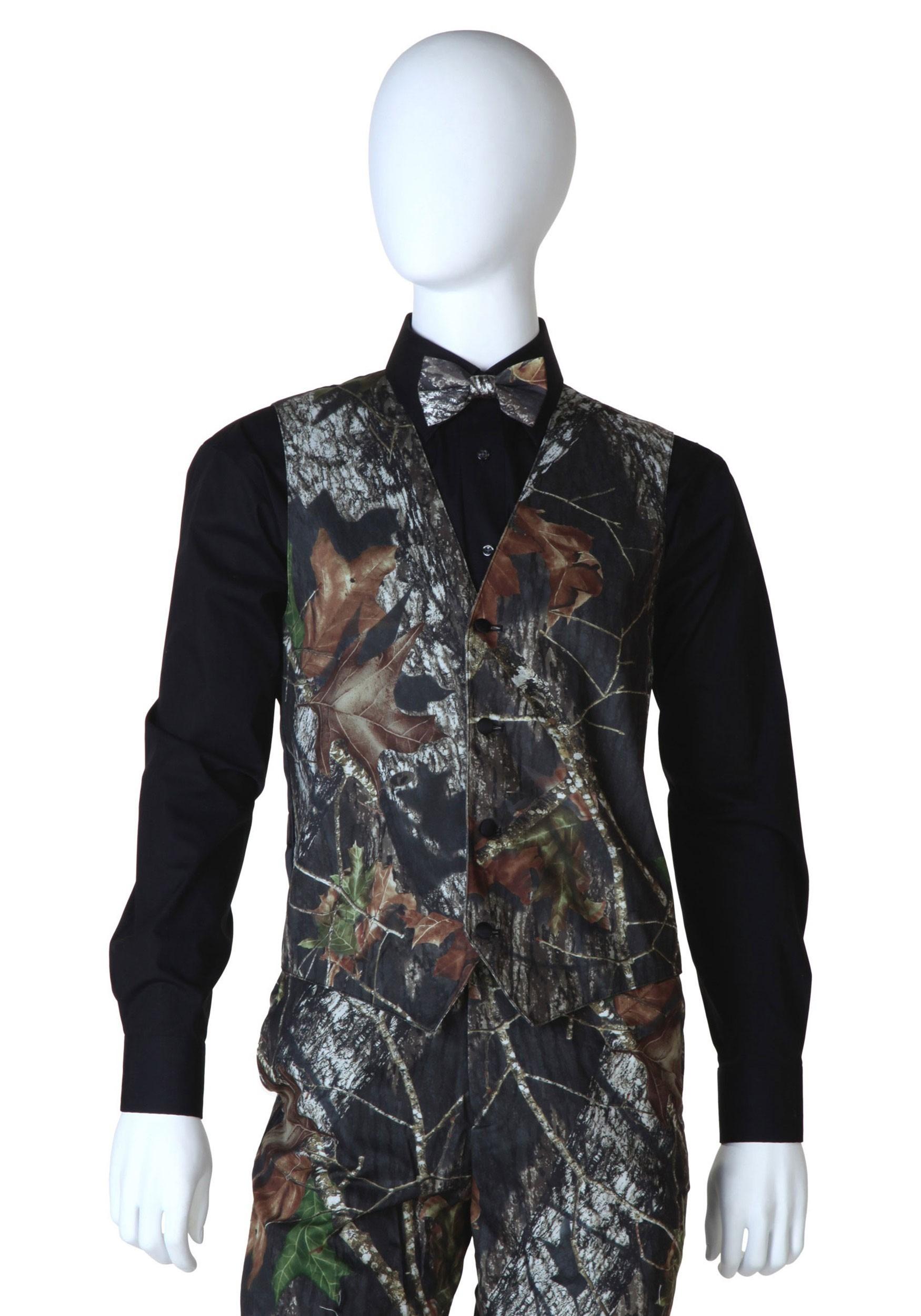 Mossy Oak Camo Tuxedo Vest | Camo Vest Mens | Exclusive