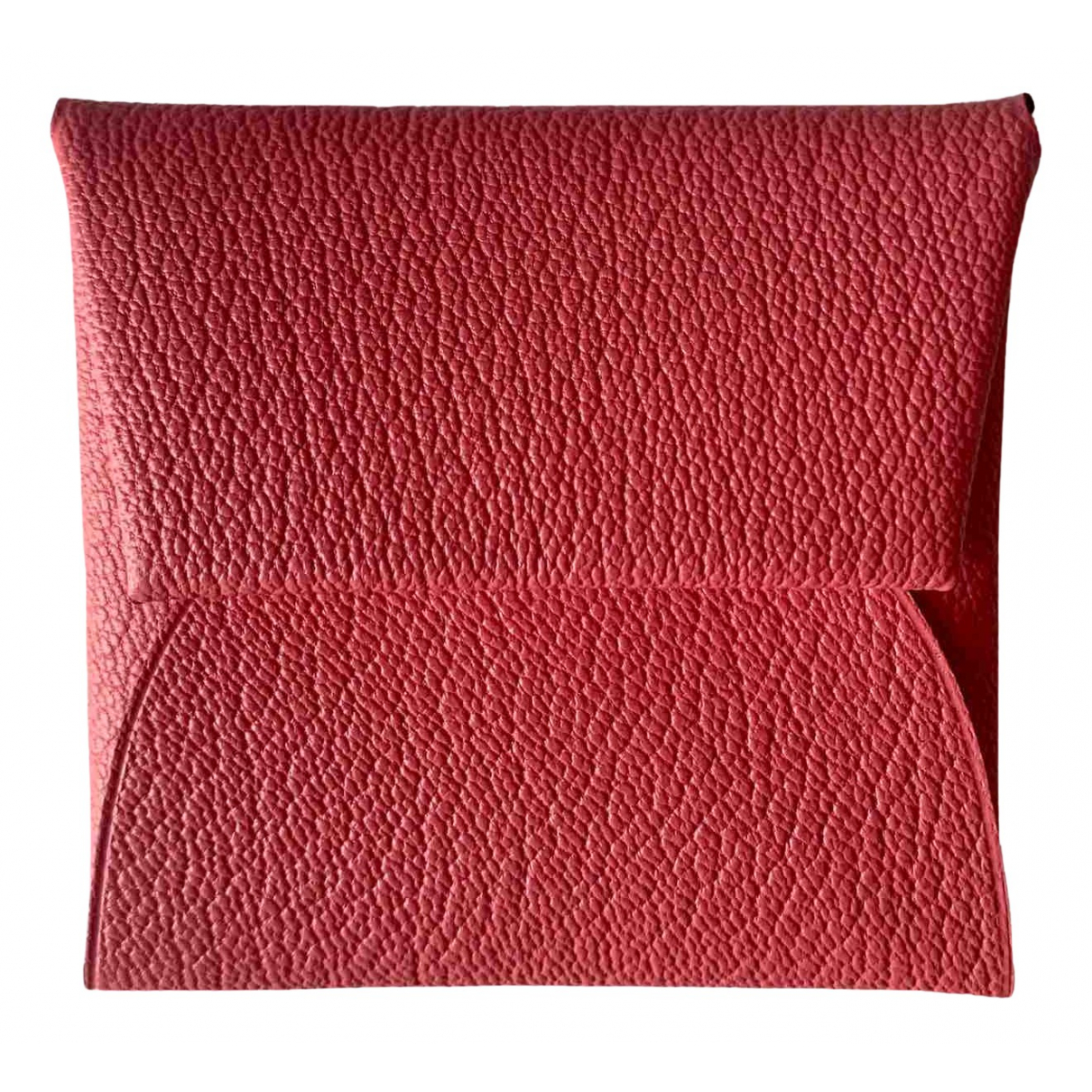 Hermès Bastia Pink Leather Purses, wallet & cases for Women \N
