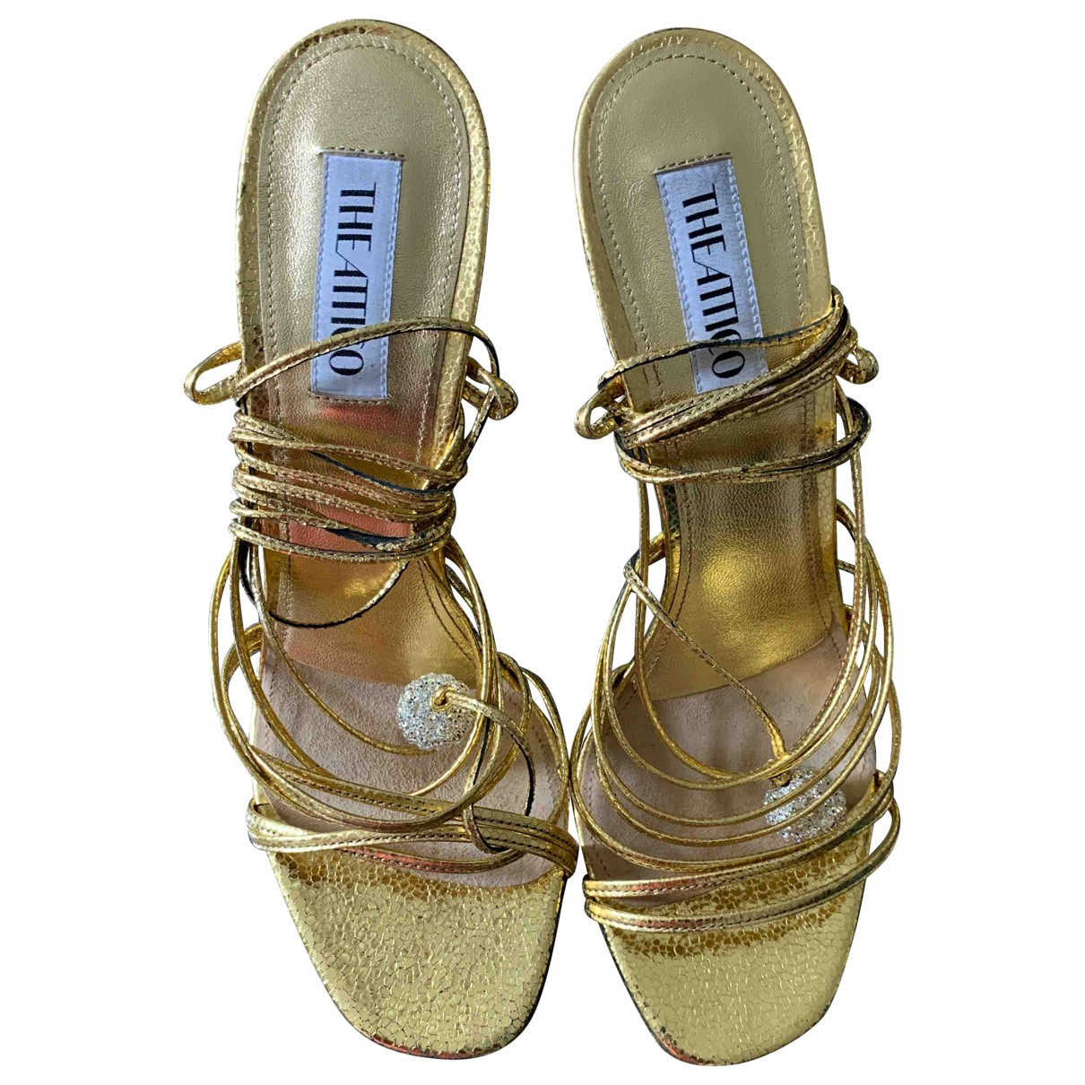 Attico \N Gold Leather Sandals for Women 40 IT
