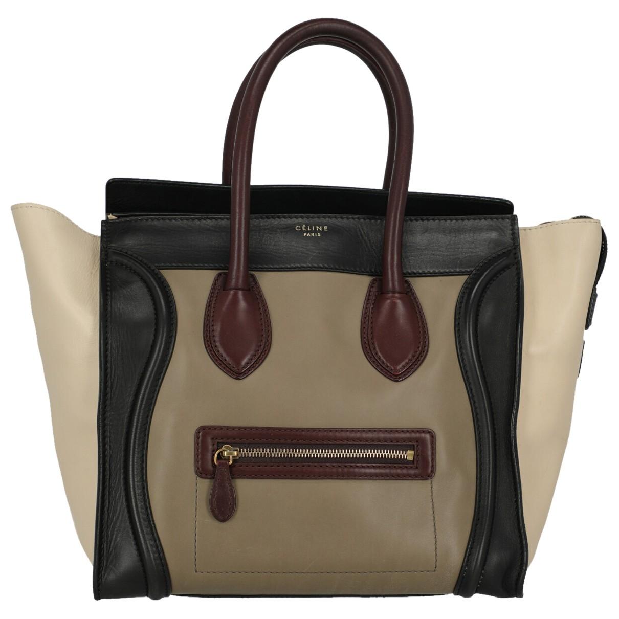 Celine Nano Luggage Multicolour Leather handbag for Women \N