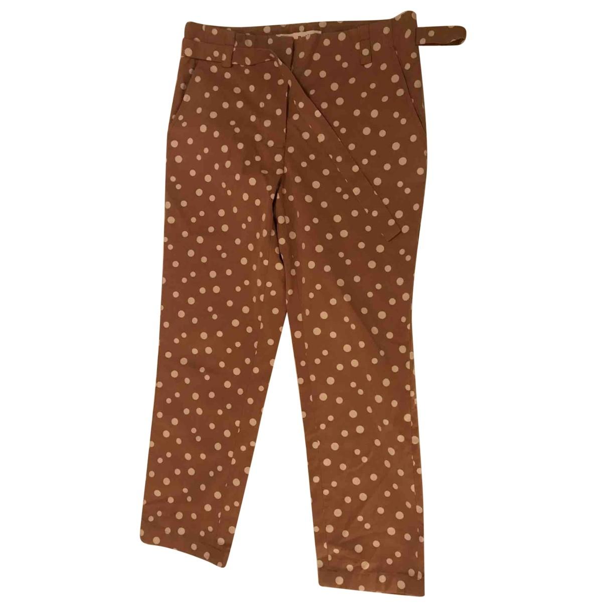 Pantalon en Algodon Camel Marni