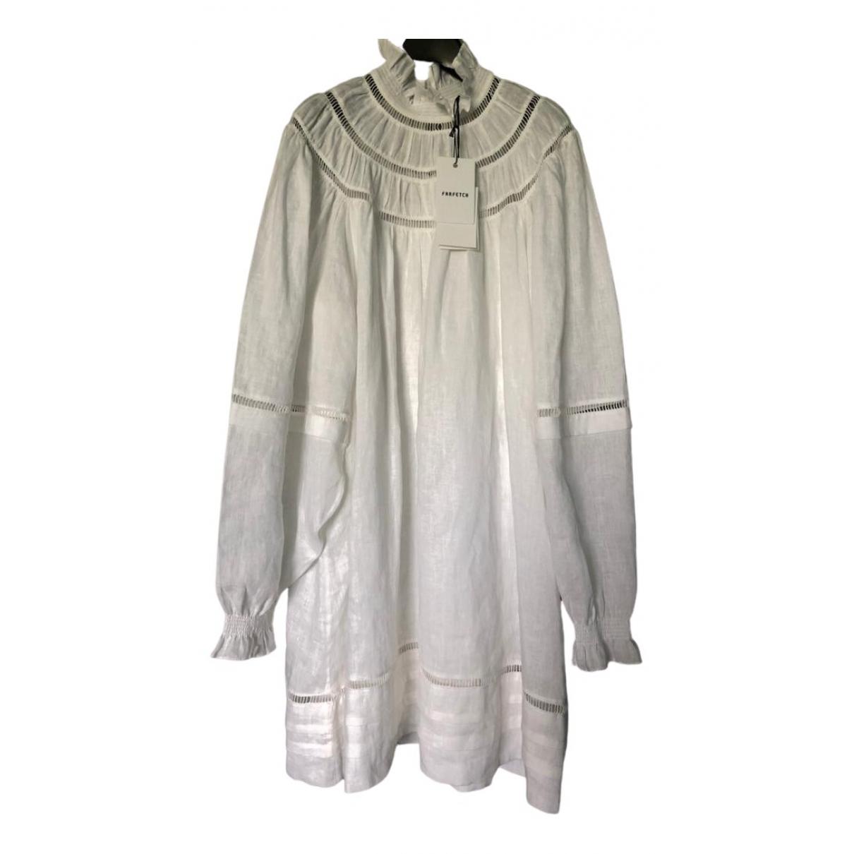 Isabel Marant Etoile - Robe   pour femme en lin - blanc