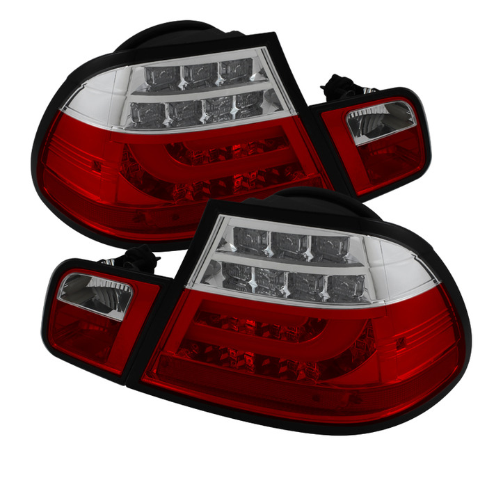 Spyder Auto ALT-YD-BE4604-LBLED-RC Light Bar Style Red Clear LED Taillights BMW E46 318d 2Dr 04-05