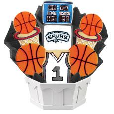 NBA San Antonio Spurs Cookie Bouquet
