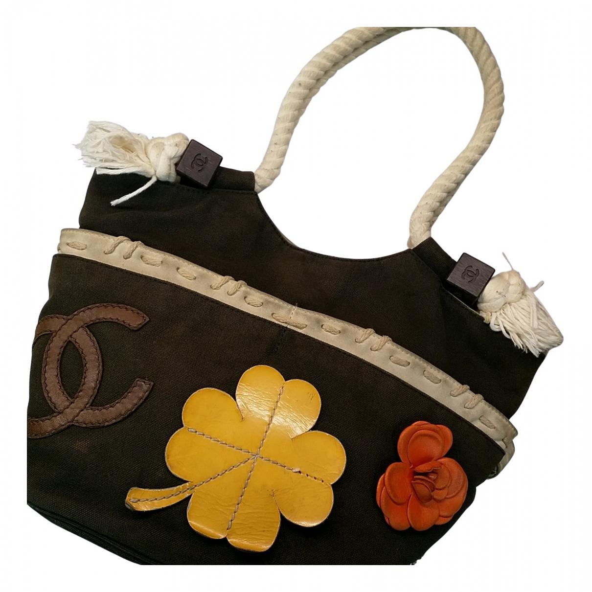 Chanel \N Handtasche in  Braun Leinen