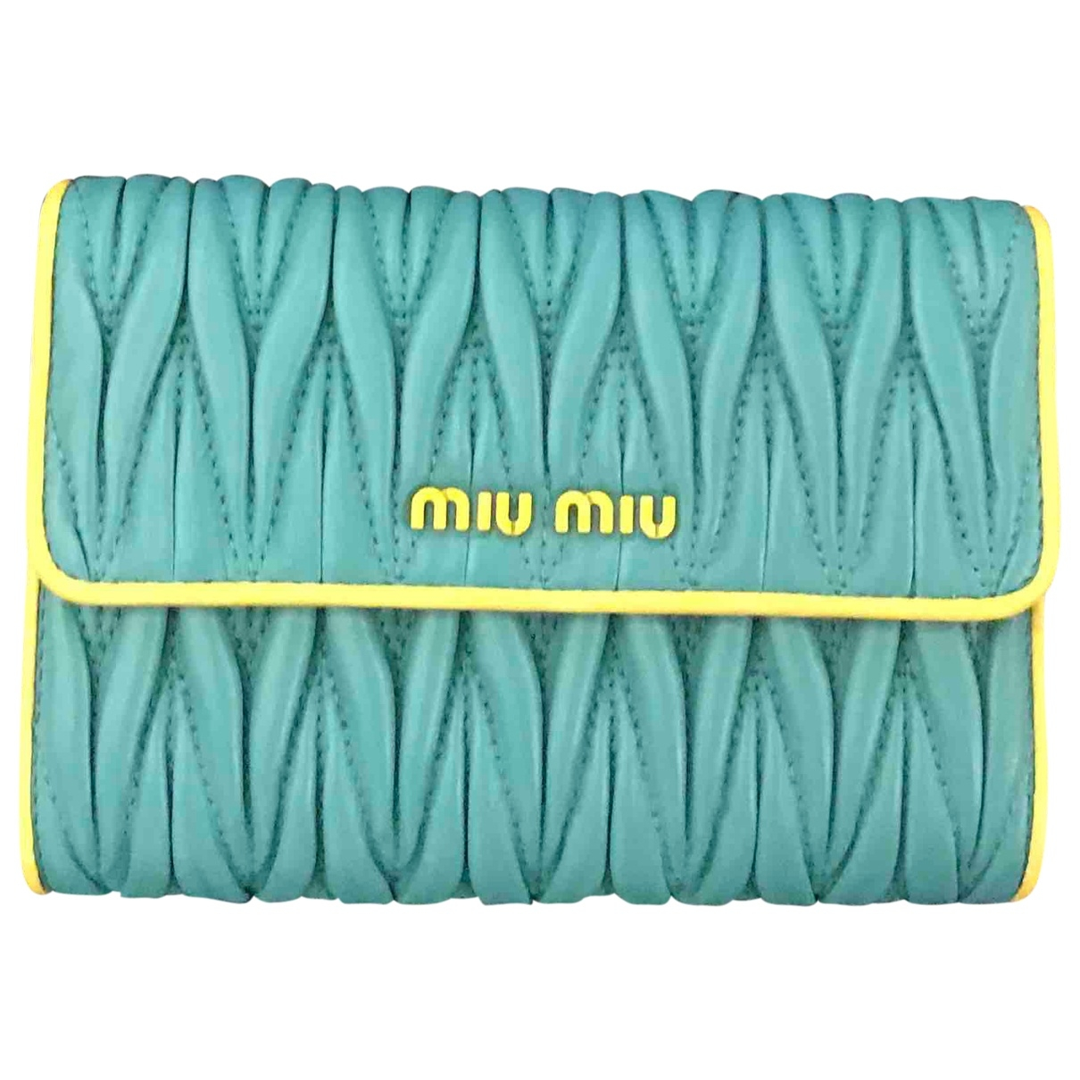 Miu Miu \N Yellow Leather wallet for Women \N