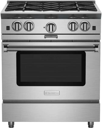 BSP304BPLT 30 Platinum Series Freestanding Range with 4 Open Burners  Interchangeable 2-in-1 Griddle Charboiler  Innovative PowR Oven  and Powerful