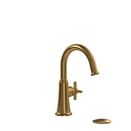 Momenti MMRDS01+BG Single Hole Lavatory Faucet with + Cross Handle 1.5 GPM  in Brushed