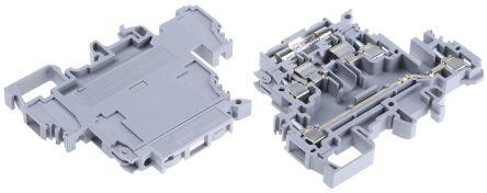 Entrelec , M, 500 V Fused DIN Rail Terminal, Screw Clamp Termination, Grey (5)