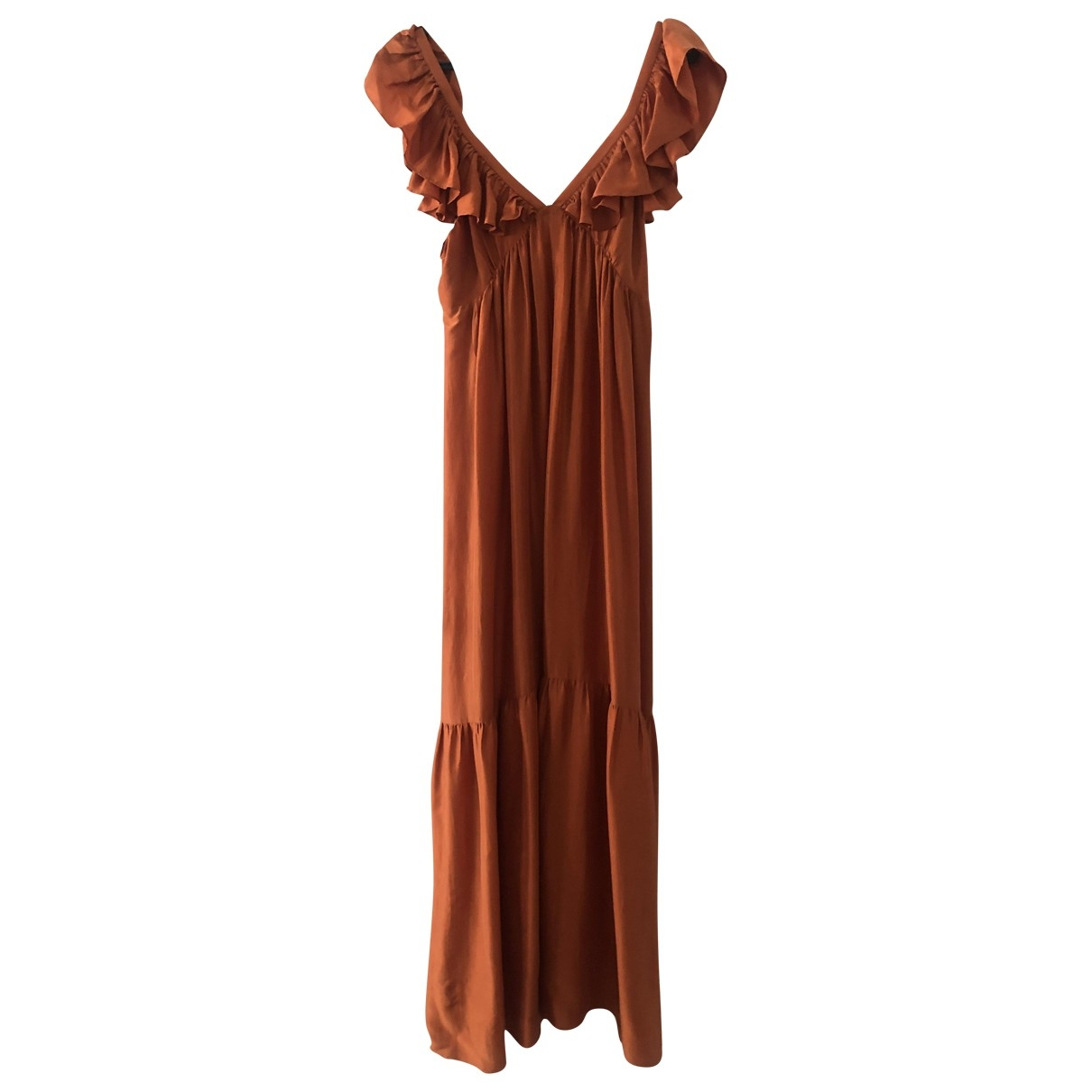 Masscob \N Orange Silk dress for Women S International