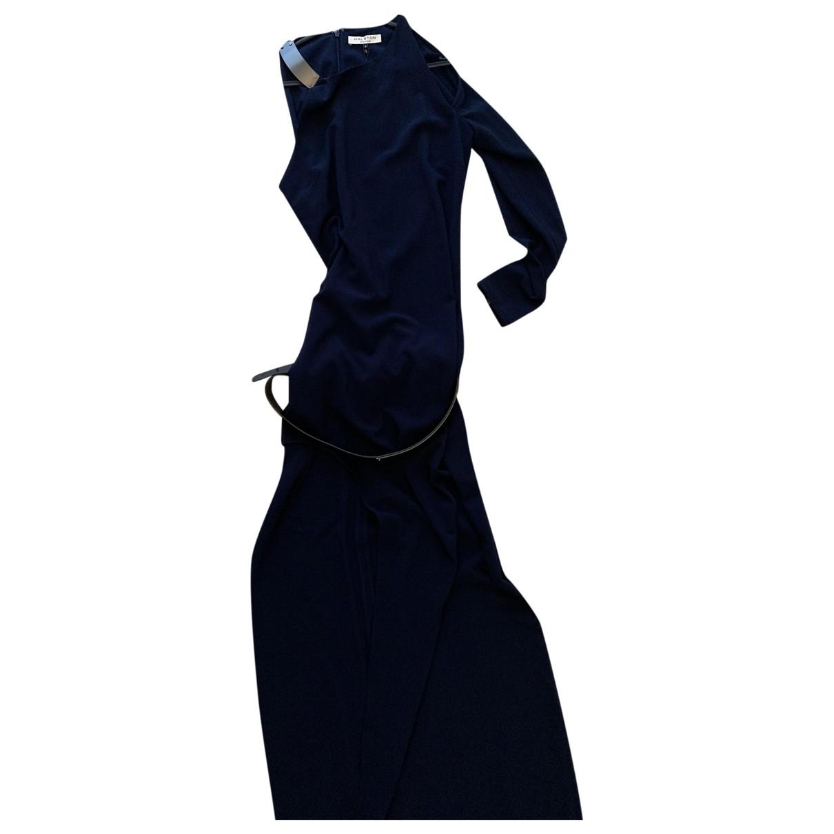 Halston Heritage - Robe   pour femme en coton - bleu