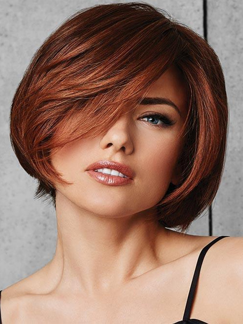Ericdress Short Bob Hairstyles Women's Natural Looking Straight Bob Synthetic Hair Capless Wigs 8Inch