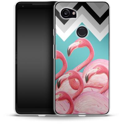 Google Pixel 2 XL Silikon Handyhuelle - Flamingo Pattern von Mark Ashkenazi