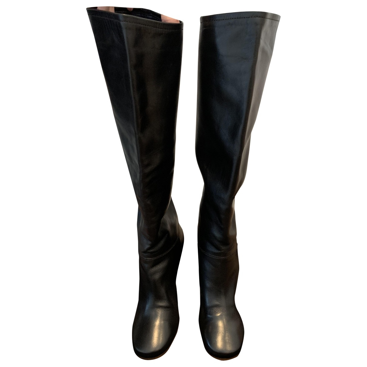 Celine \N Black Leather Boots for Women 37 EU