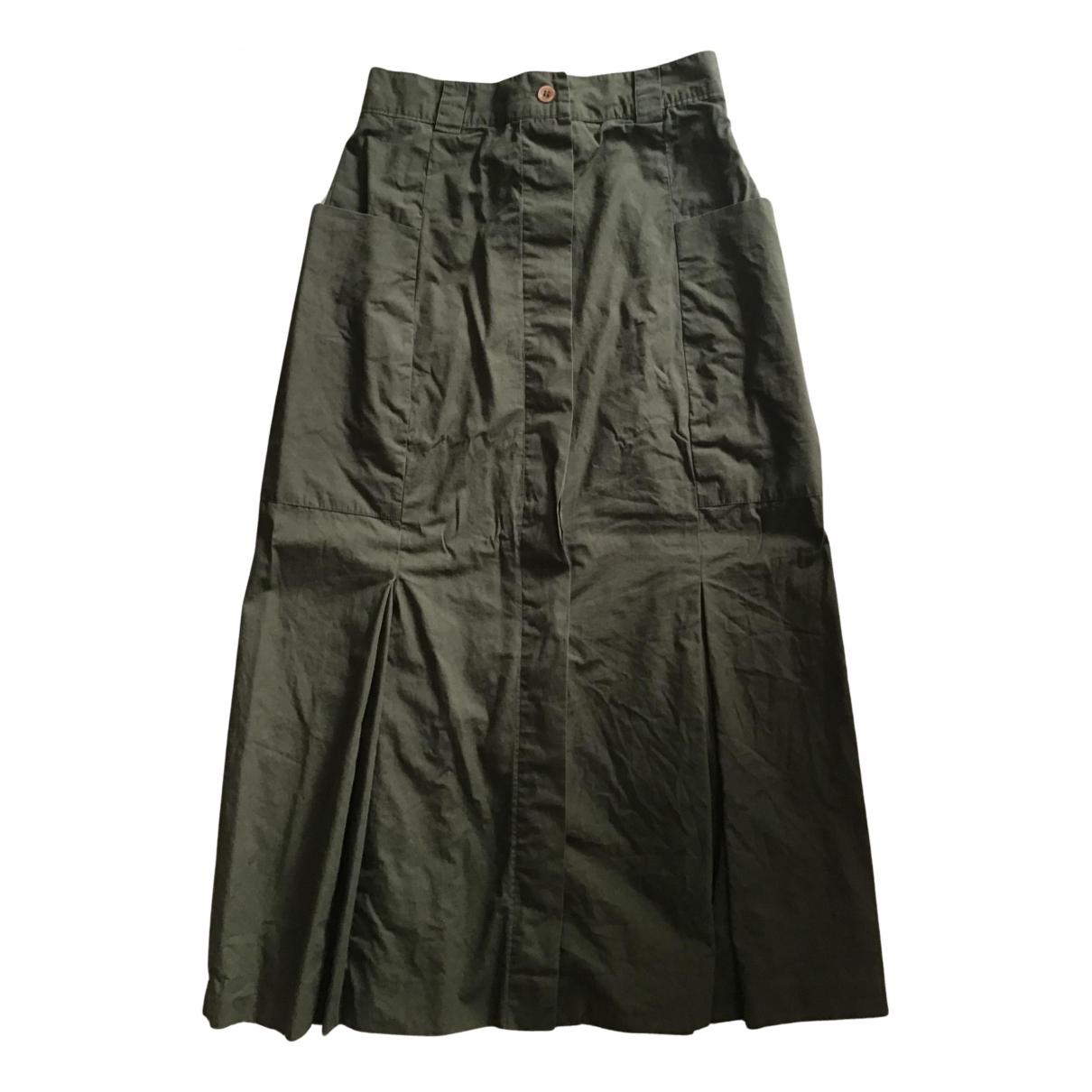 Cacharel - Jupe   pour femme en coton - kaki