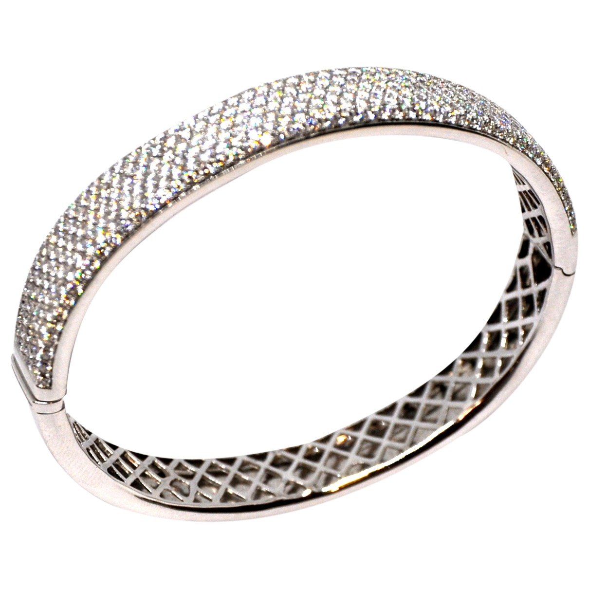 Non Signé / Unsigned Jonc White gold bracelet for Women \N