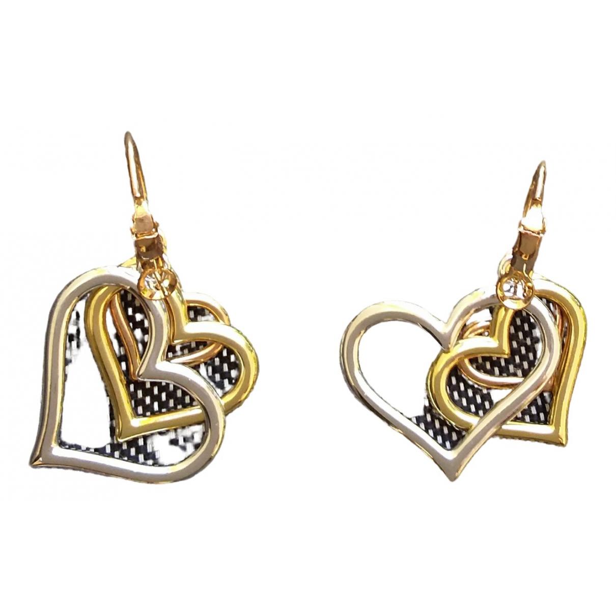 Non Signé / Unsigned Motifs Coeurs Multicolour Metal Earrings for Women \N