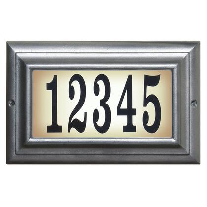 LTS-1300-PW Edgewood Standard Lighted Address Plaque in Pewter Frame