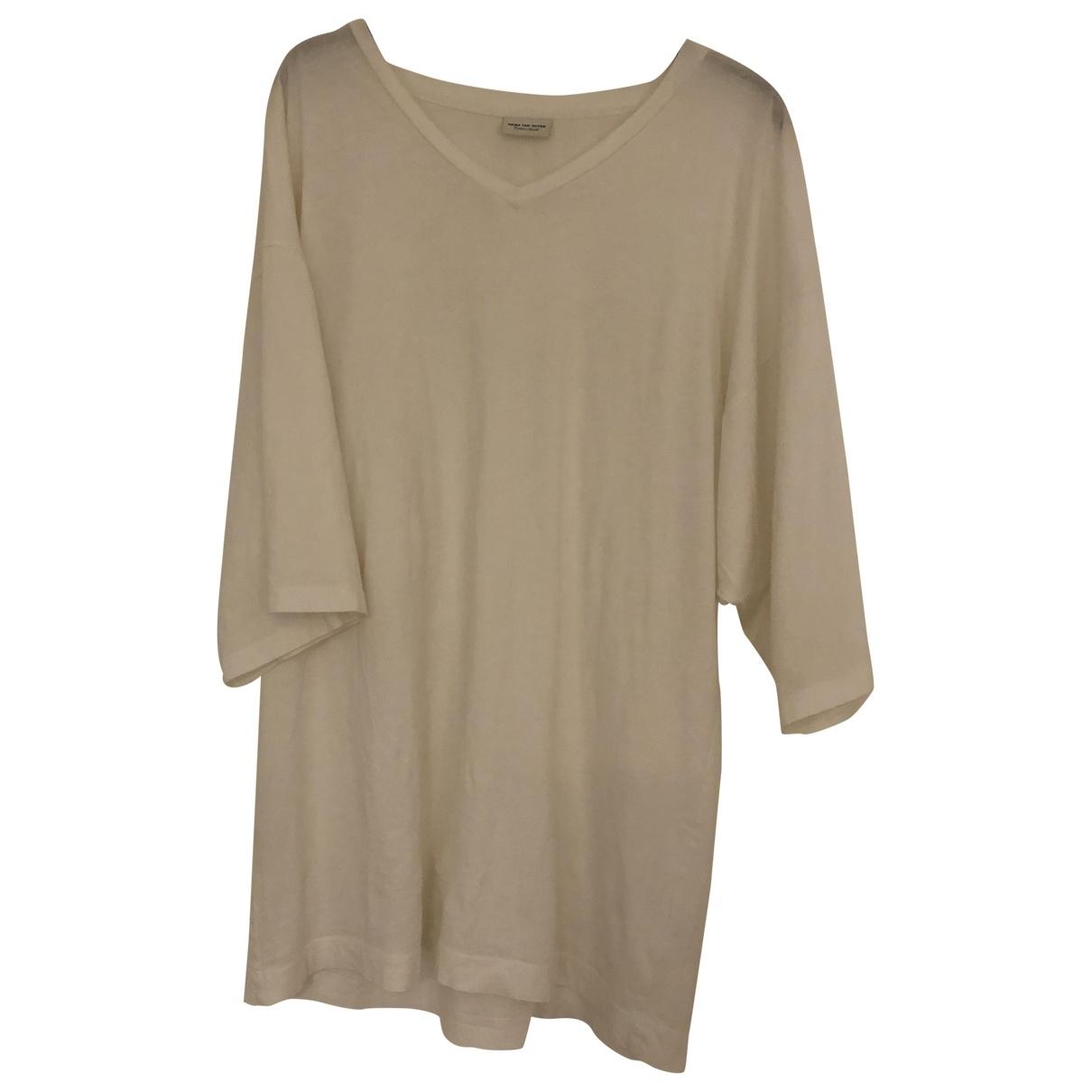 Dries Van Noten - Top   pour femme en coton - blanc