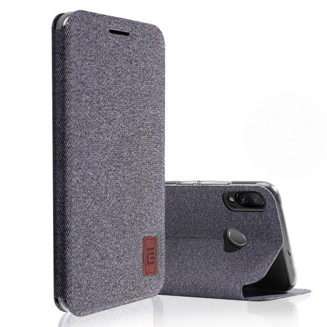 Bakeey Flip Fabric Soft Silicone Edge Shockproof Full Body Protective Case For Xiaomi Mi Play