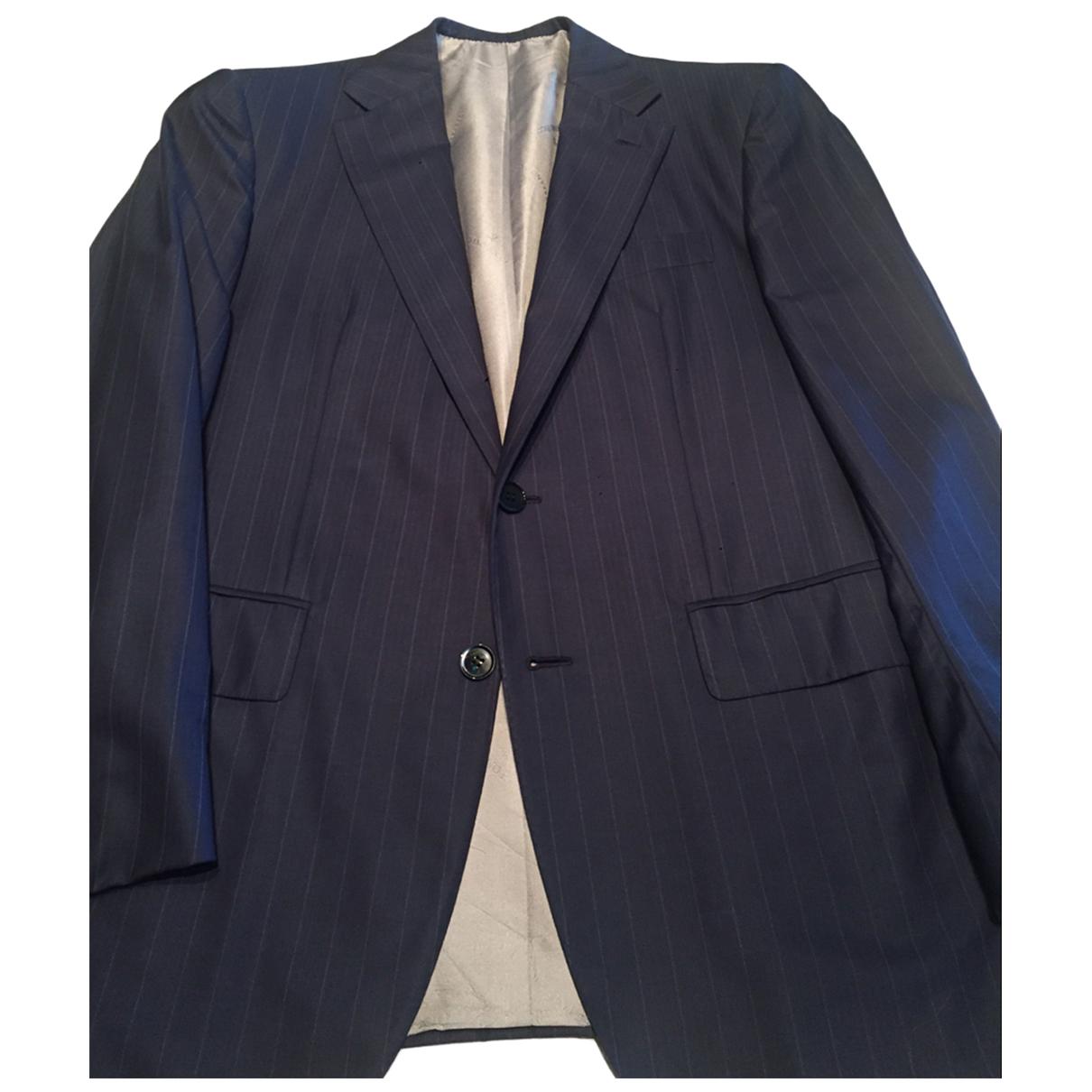 Stefano Ricci - Costumes   pour homme en laine - bleu