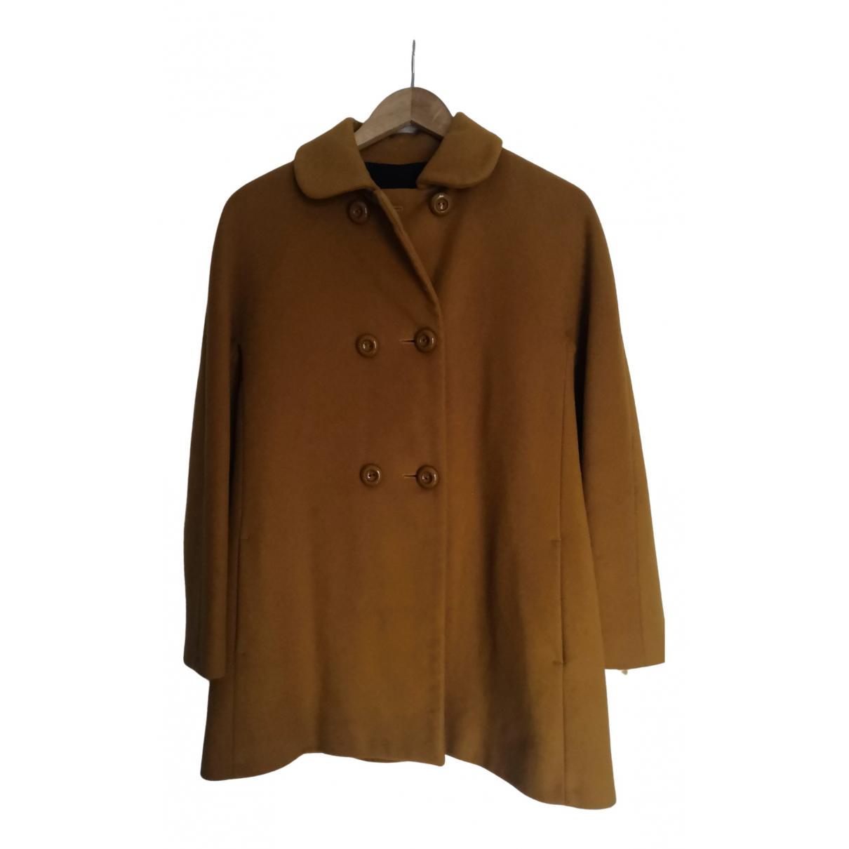 Zara - Manteau   pour femme en laine - jaune