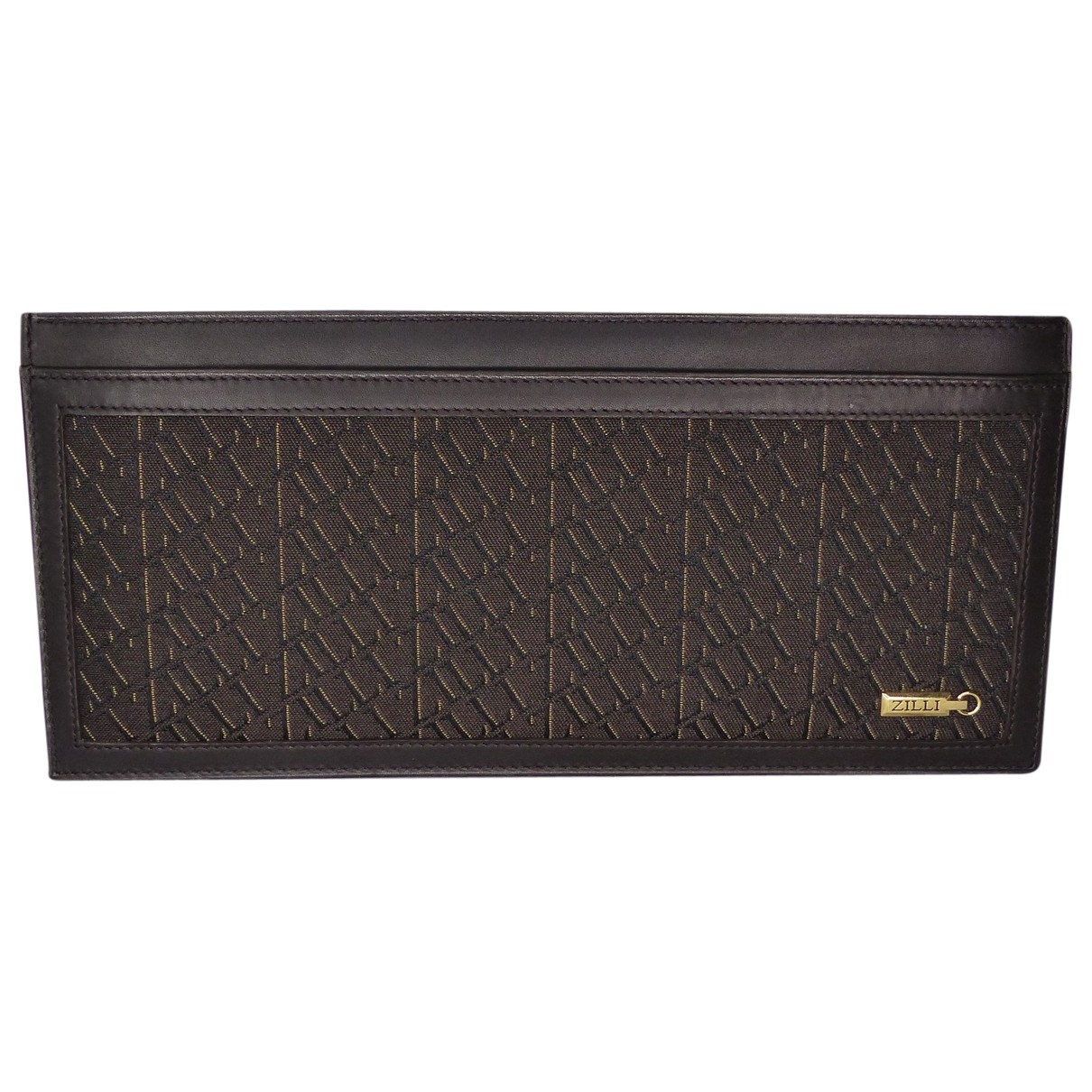Zilli \N Brown Cloth Small bag, wallet & cases for Men \N