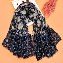 Schal mit Blumen Muster