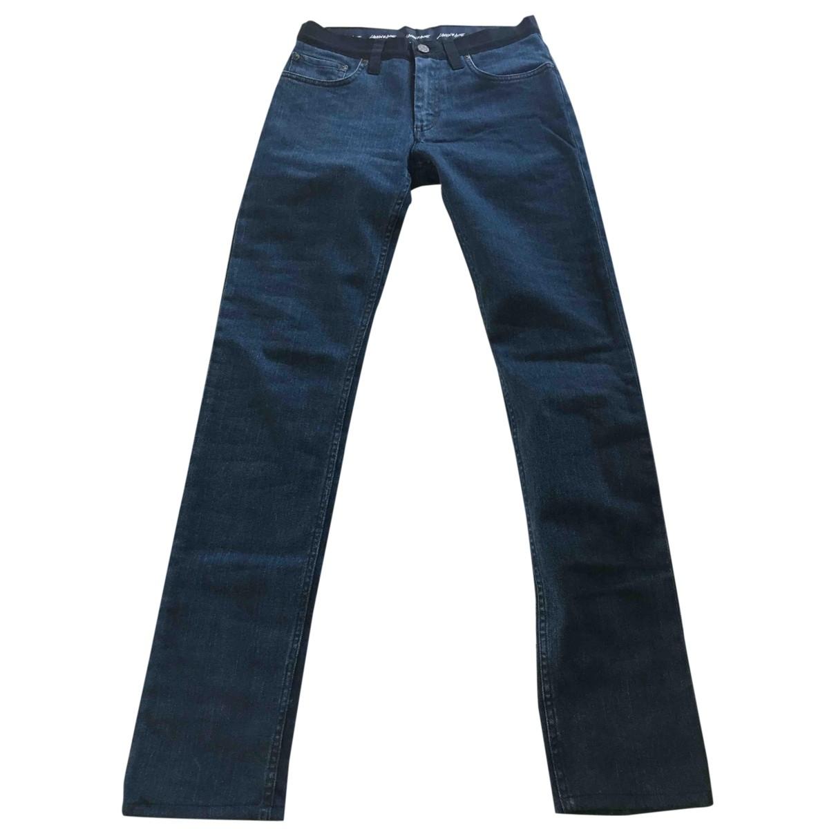 Lanvin - Jean   pour femme en coton - elasthane - bleu