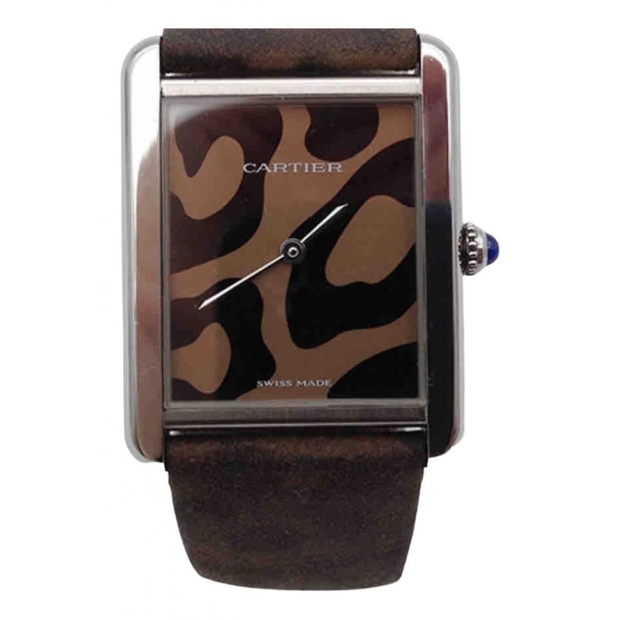 Cartier Tank Solo Grey Steel watch for Women \N