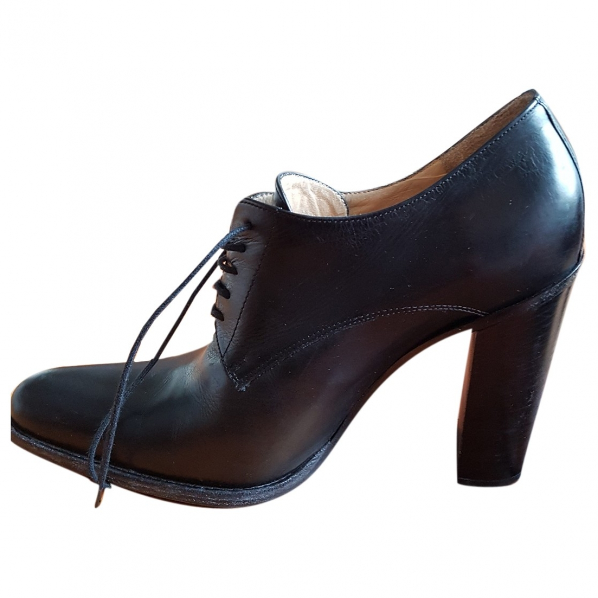 Free Lance Queenie Black Leather Ankle boots for Women 40 EU