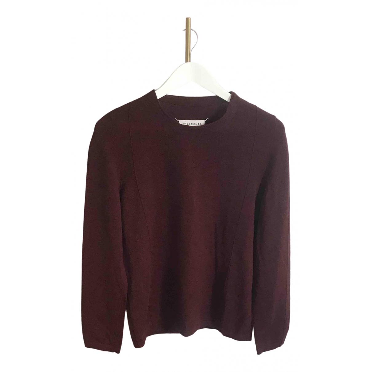 Maison Martin Margiela \N Pullover.Westen.Sweatshirts  in  Bordeauxrot Kaschmir