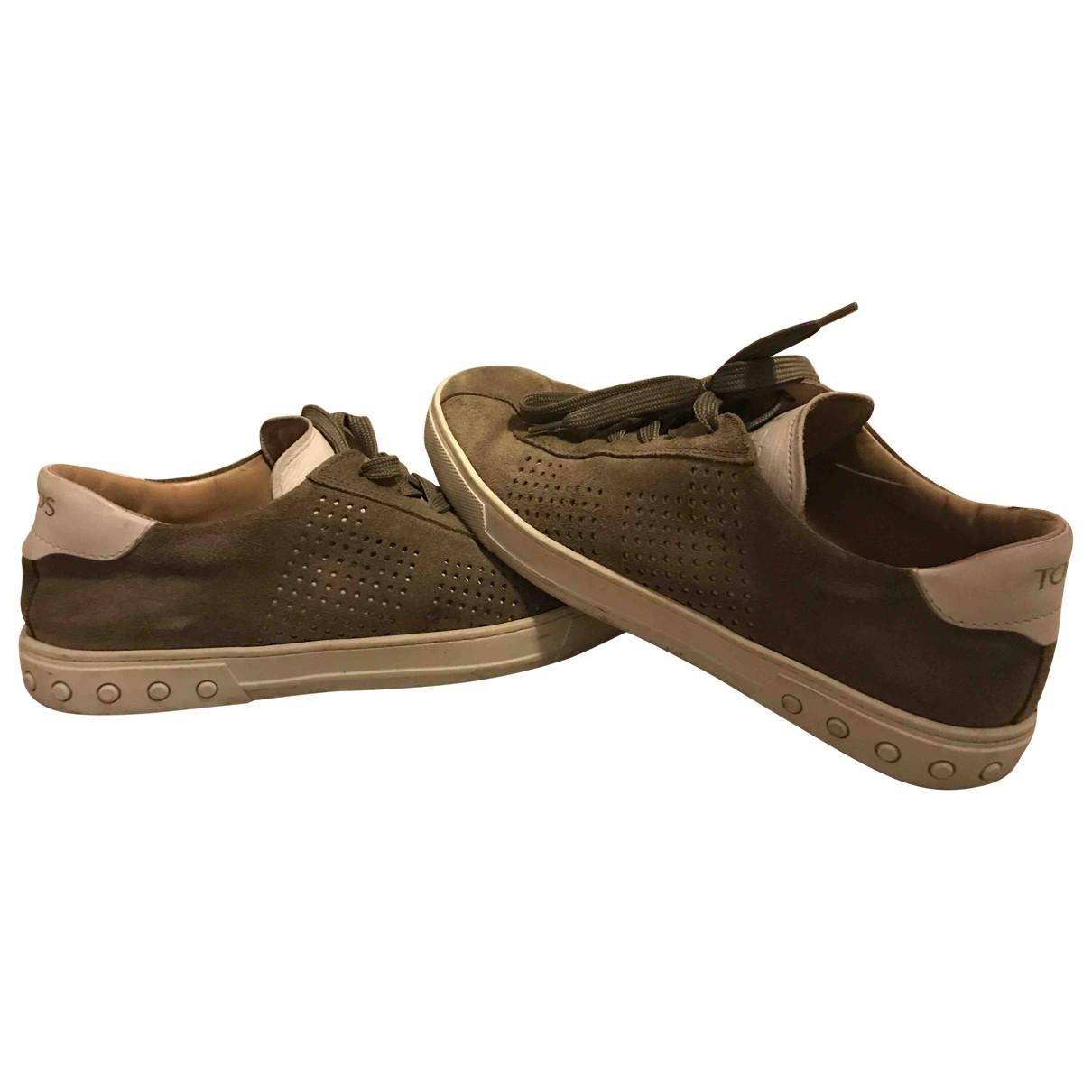 Tods - Baskets   pour homme en suede - marron
