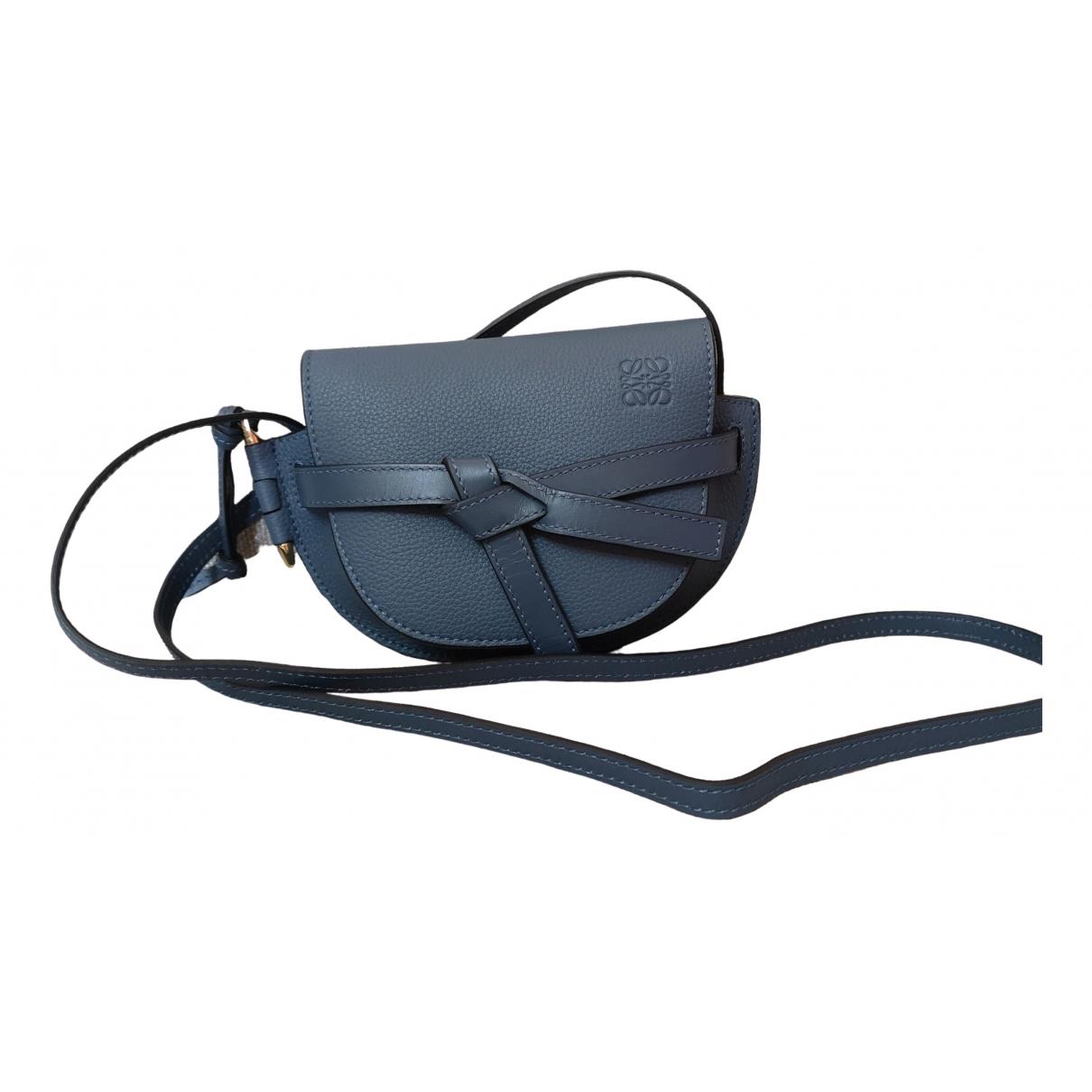 Loewe Gate Blue Leather handbag for Women \N