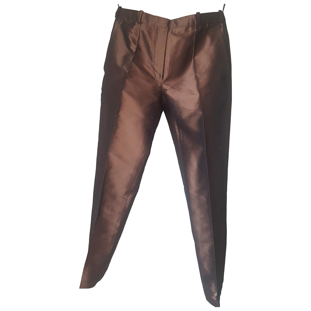 Pantalon recto de Seda Hermes