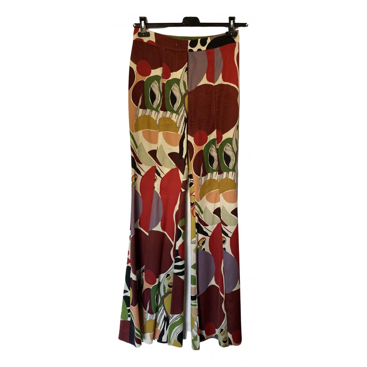 Maliparmi \N Multicolour Trousers for Women 42 IT