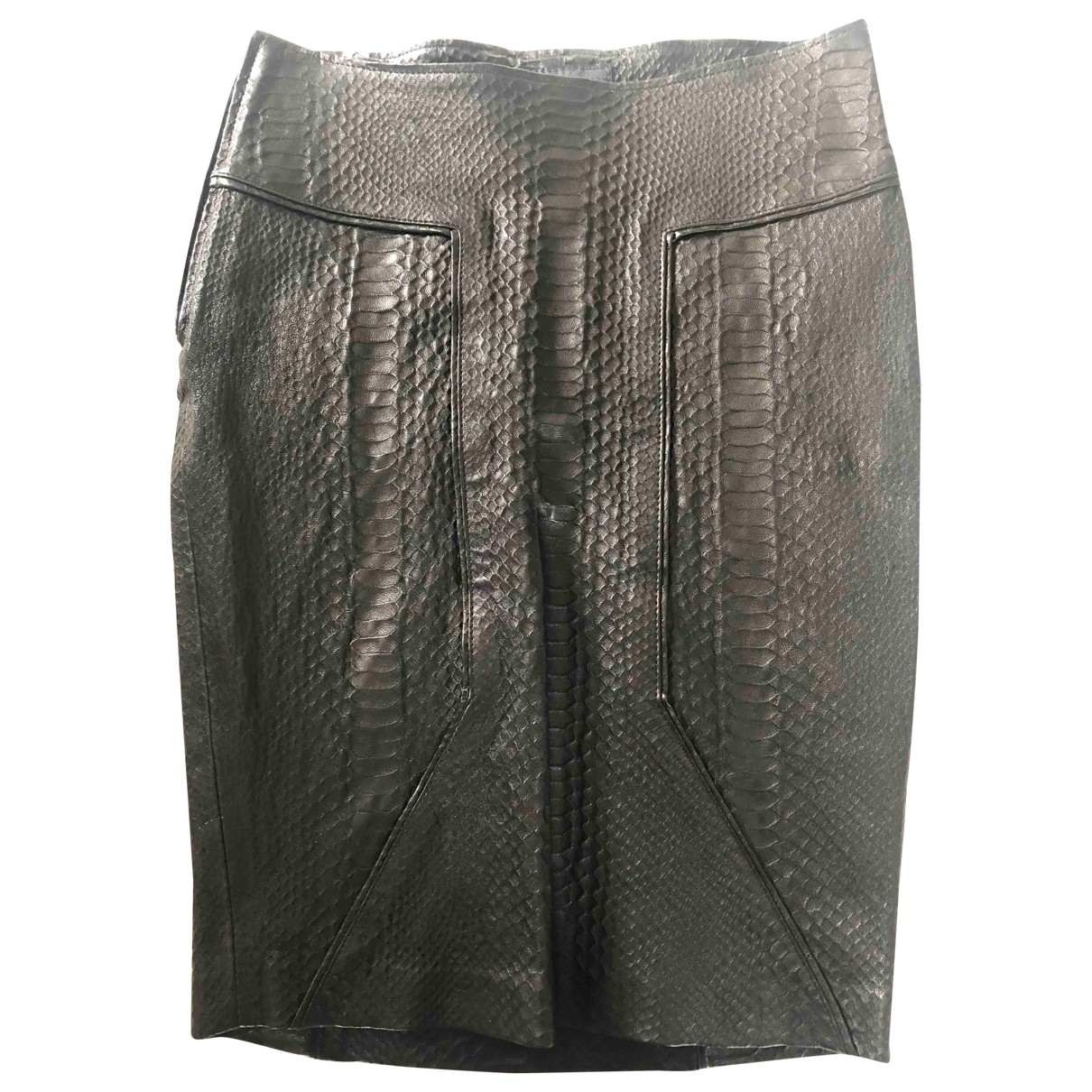 Rta - Jupe   pour femme en cuir - noir