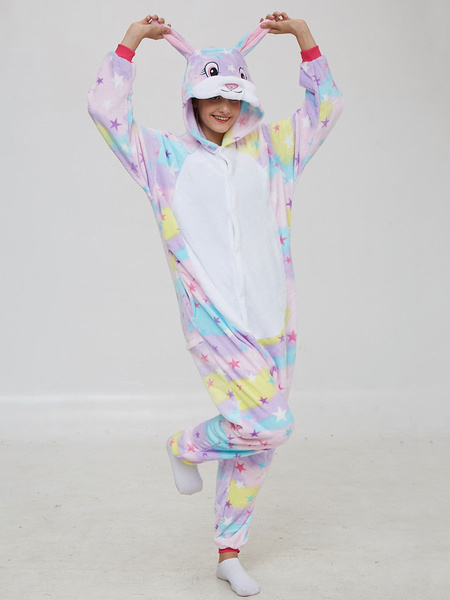 Milanoo Disfraz Halloween Disfraces kigurumi Onesie pijama de franela Startlet conejito Mono Kigurumi Carnaval Halloween