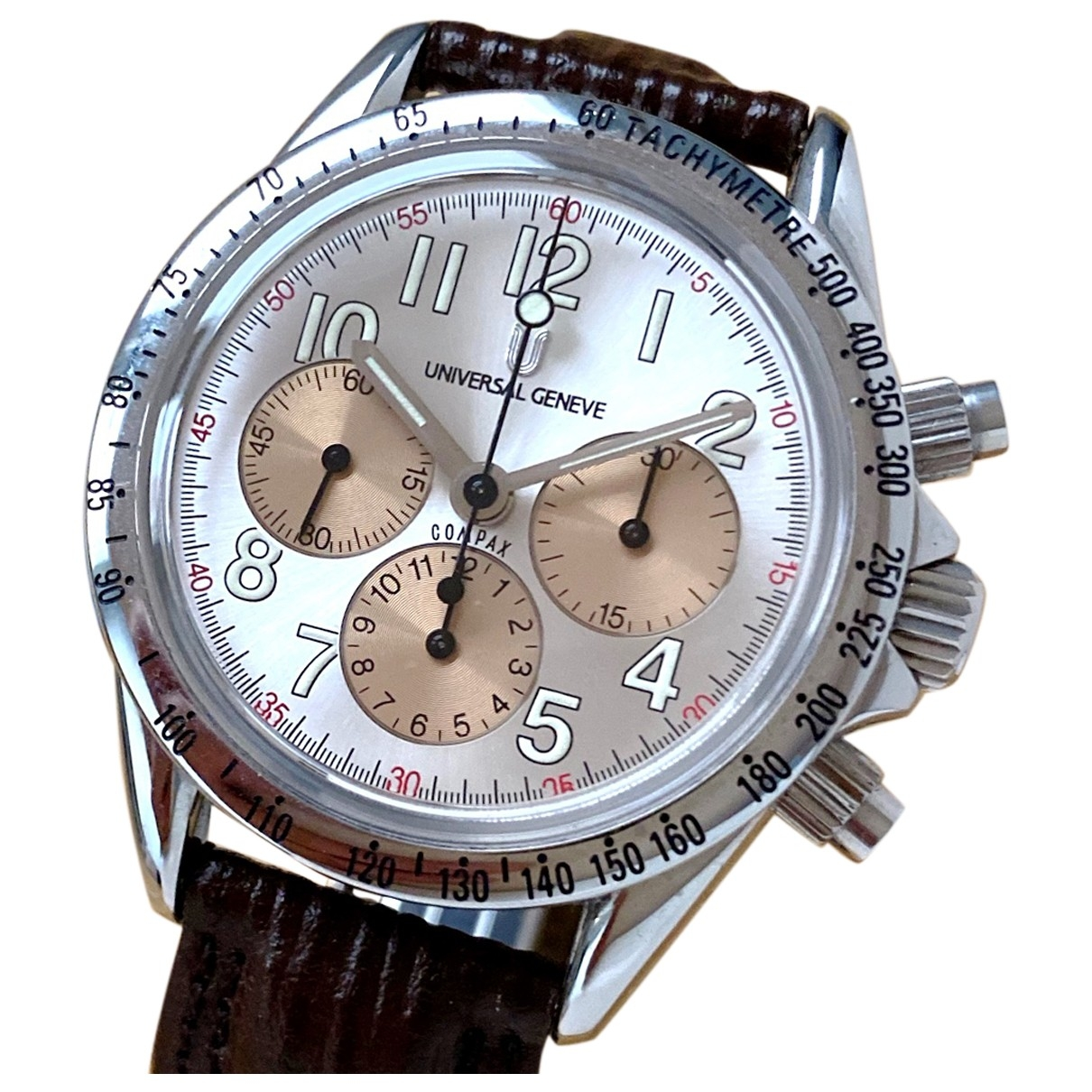 Universal Geneve \N Uhr in  Weiss Stahl