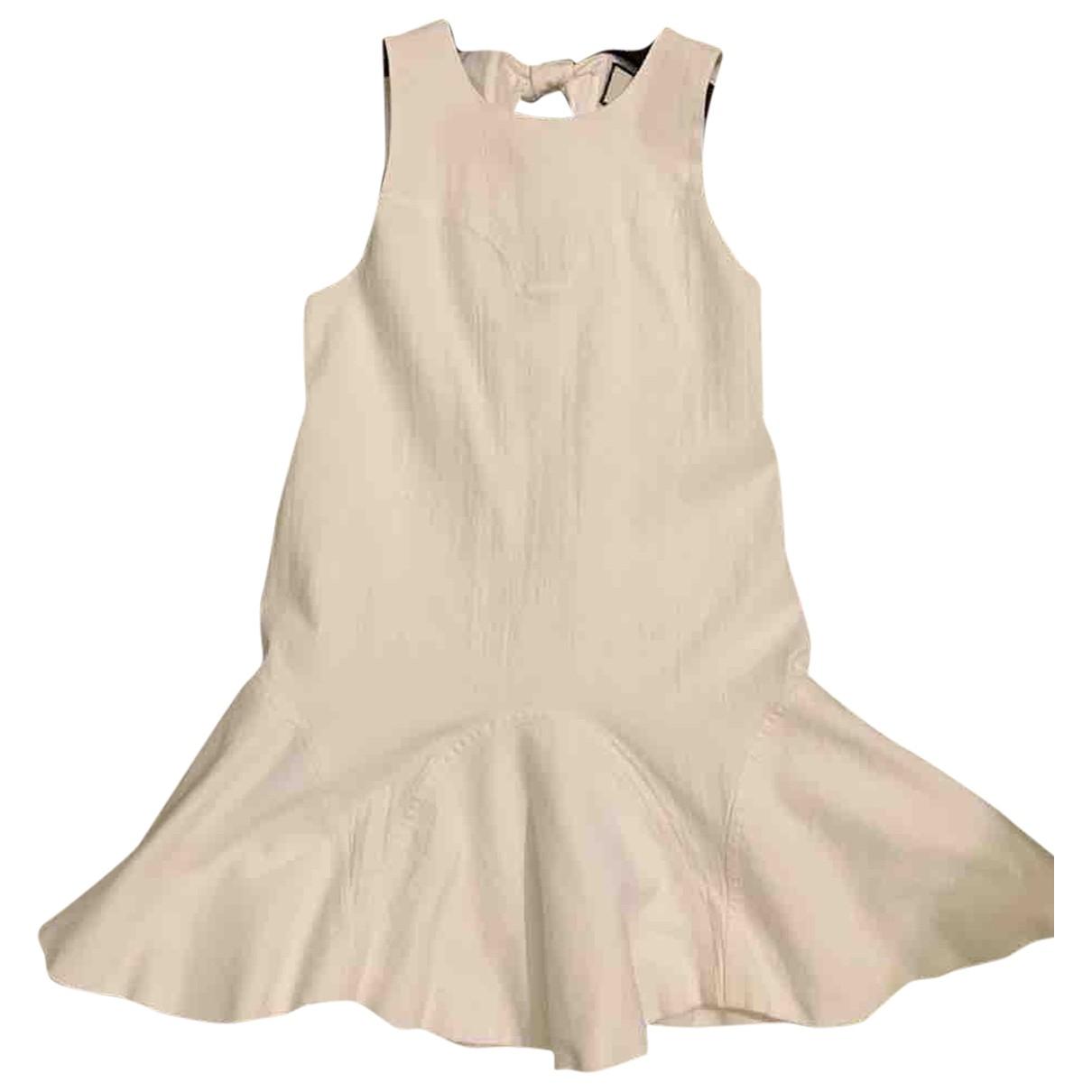 Alexis - Robe   pour femme en coton - blanc