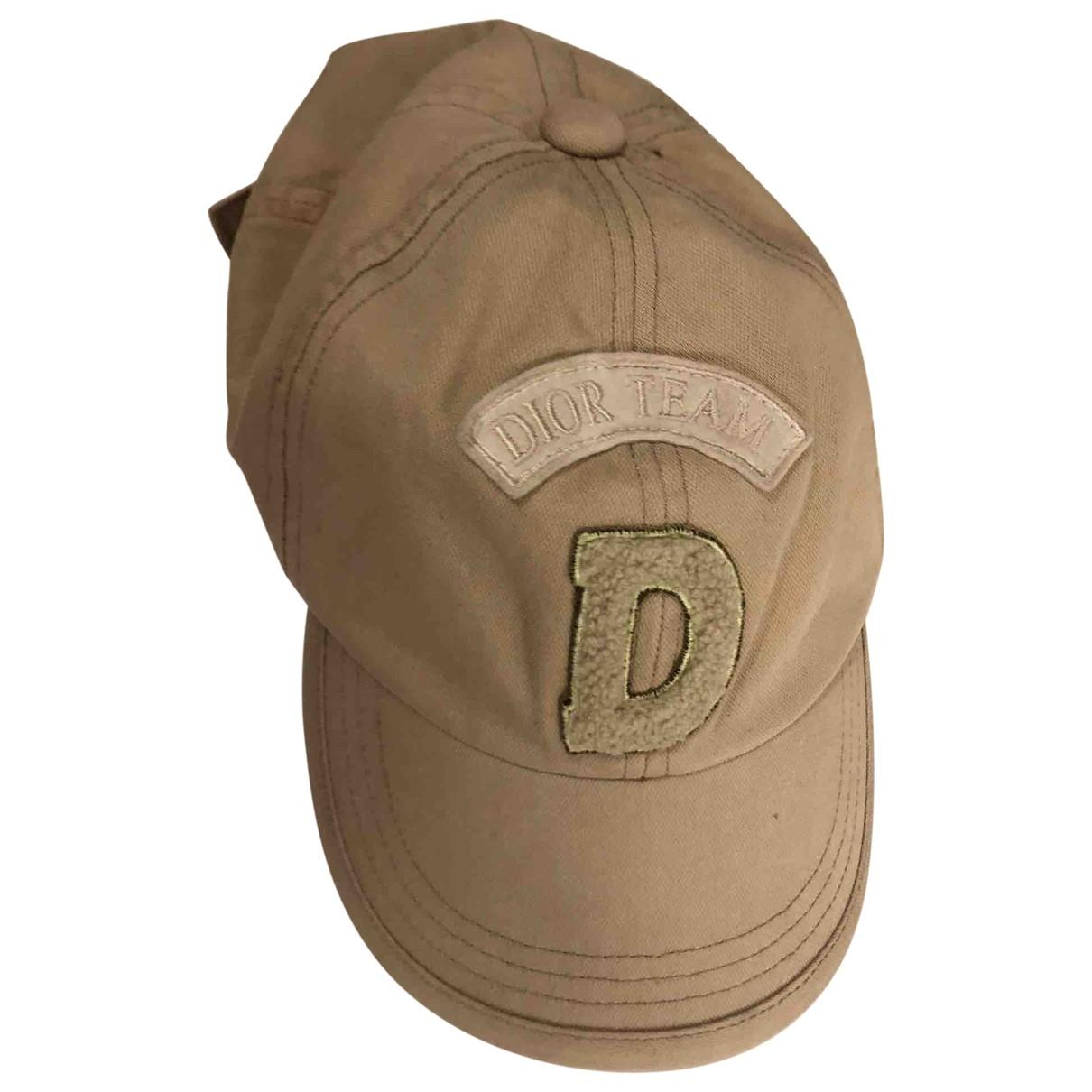 Dior \N Hut, Muetzen, Handschuhe in  Khaki Baumwolle