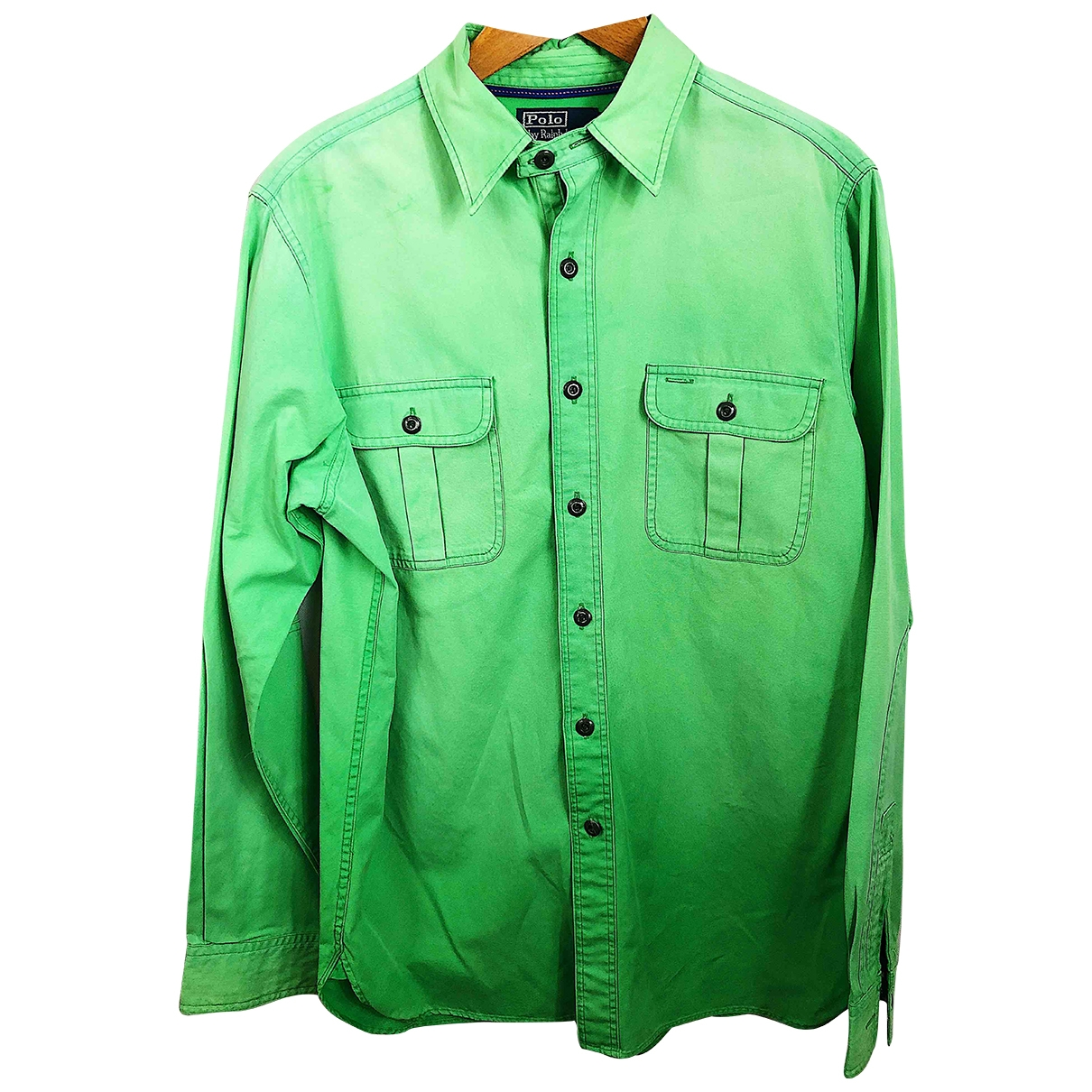 Polo Ralph Lauren \N Green Cotton Shirts for Men M International