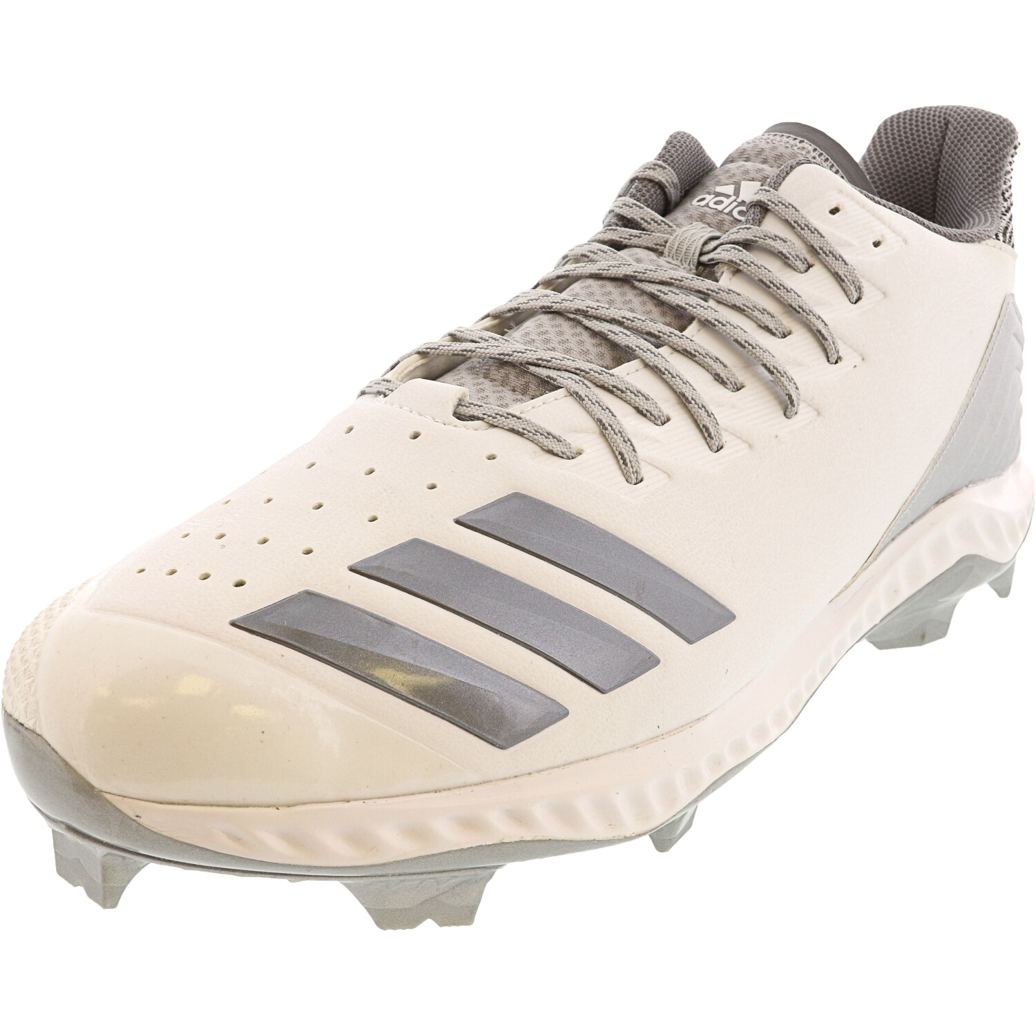 Adidas Men's Icon Bounce Tpu White / Grey Low Top Leather Baseball - 16M