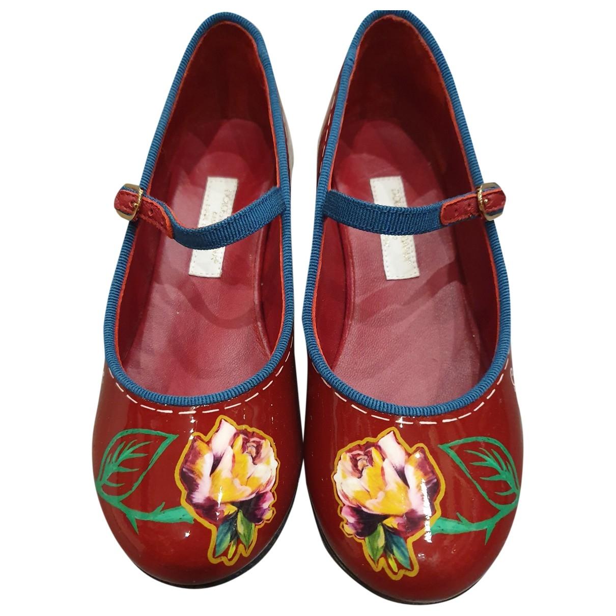 Dolce & Gabbana \N Burgundy Patent leather Ballet flats for Kids 29 EU