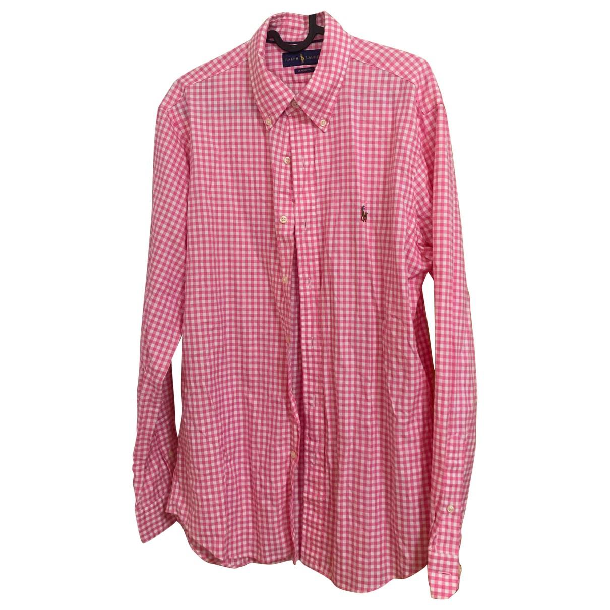 Ralph Lauren - Chemises   pour homme en coton - rose