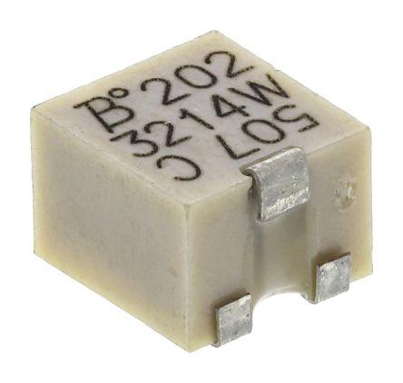 Bourns 2kΩ, SMD Trimmer Potentiometer 0.25W Top Adjust , 3214 (5)