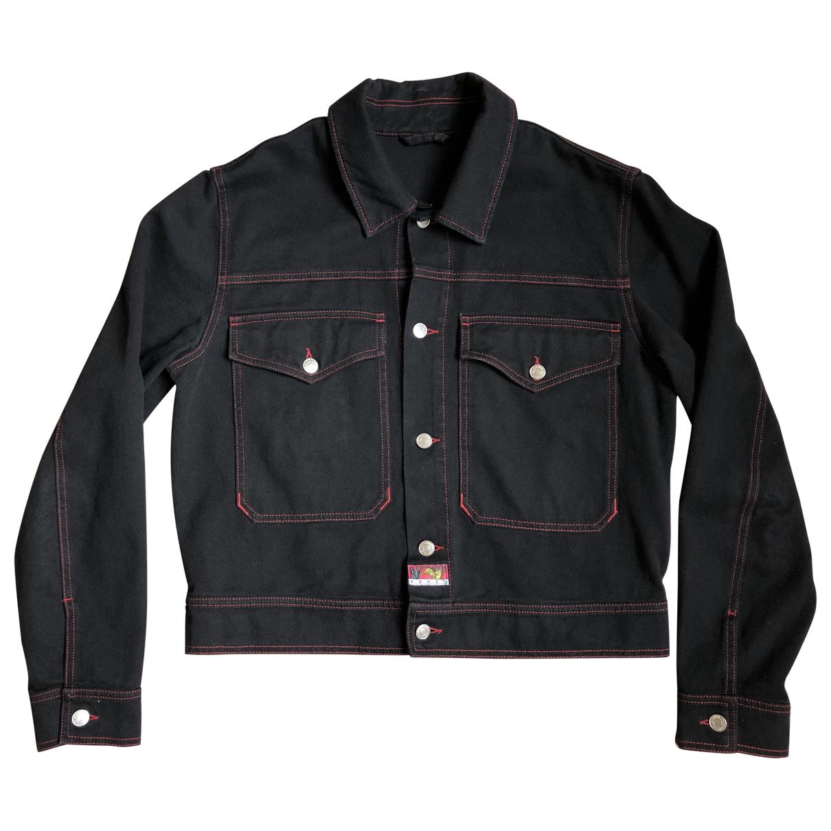 Kenzo \N Jacke in  Schwarz Baumwolle