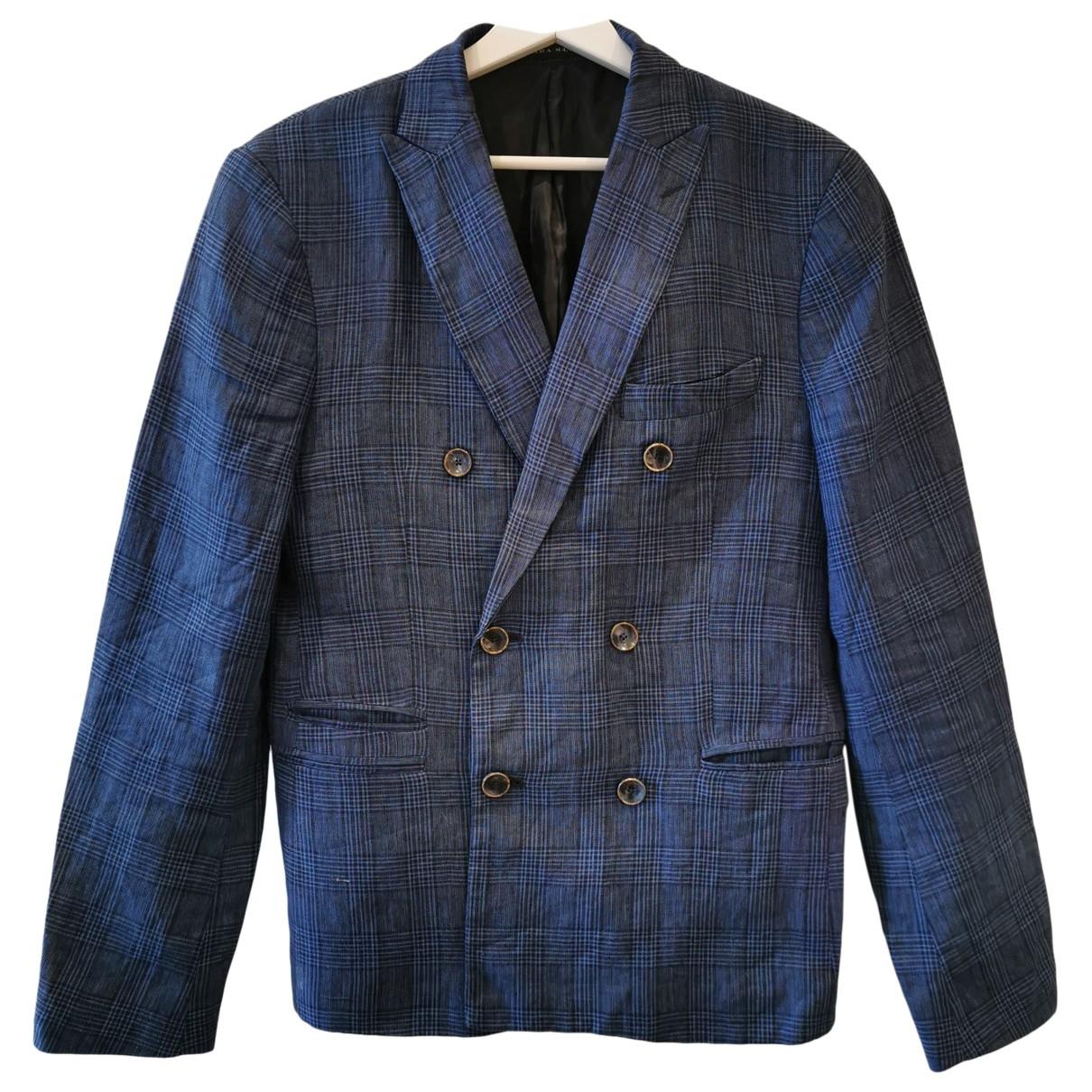 Zara \N Jacke in  Blau Leinen